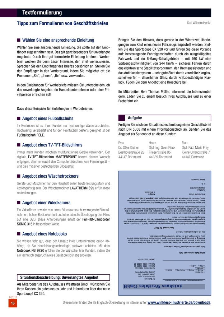 Textformulierung Tipps Zum Formulieren Von Geschäftsbriefen