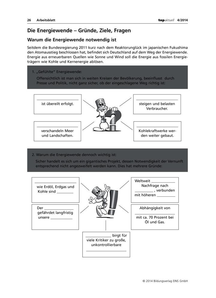 Die Energiewende - Gründe, Ziele, Fragen: Verlage der Westermann Gruppe
