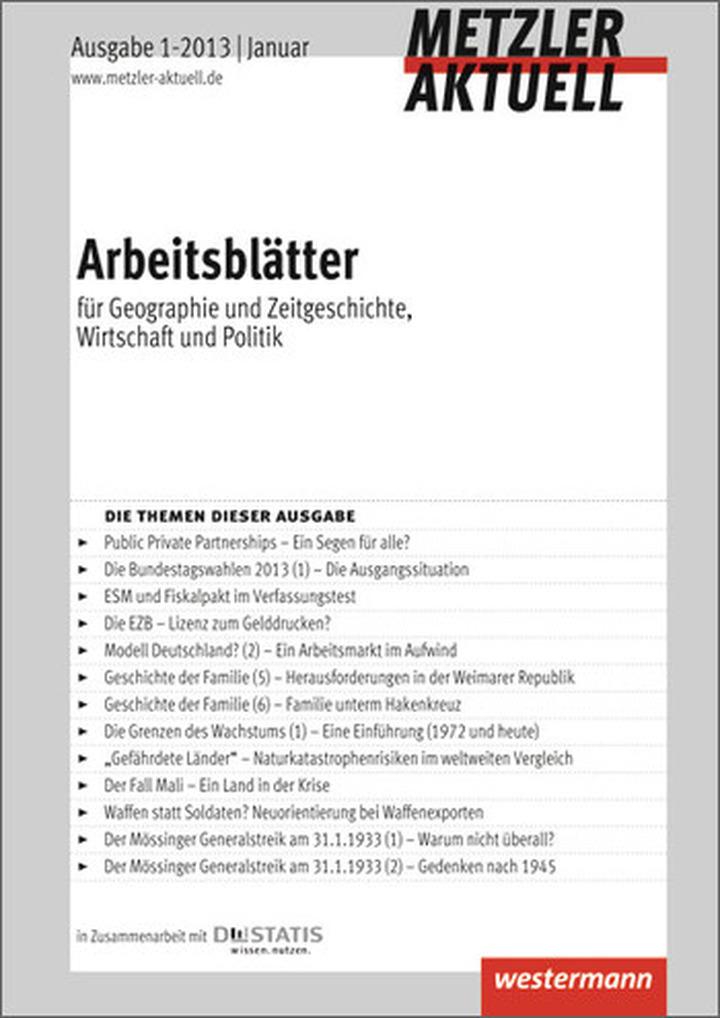 Metzler aktuell - Arbeitsblätter - Ausgabe Januar 1 / 2013 ...