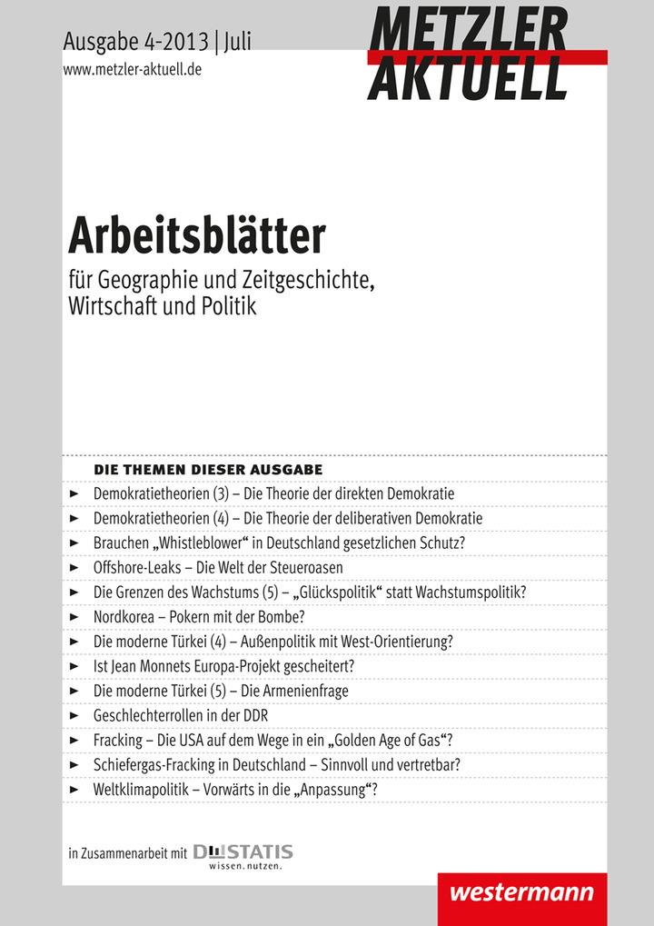 Metzler aktuell - Arbeitsblätter - Ausgabe Juli 4 / 2013: Westermann ...