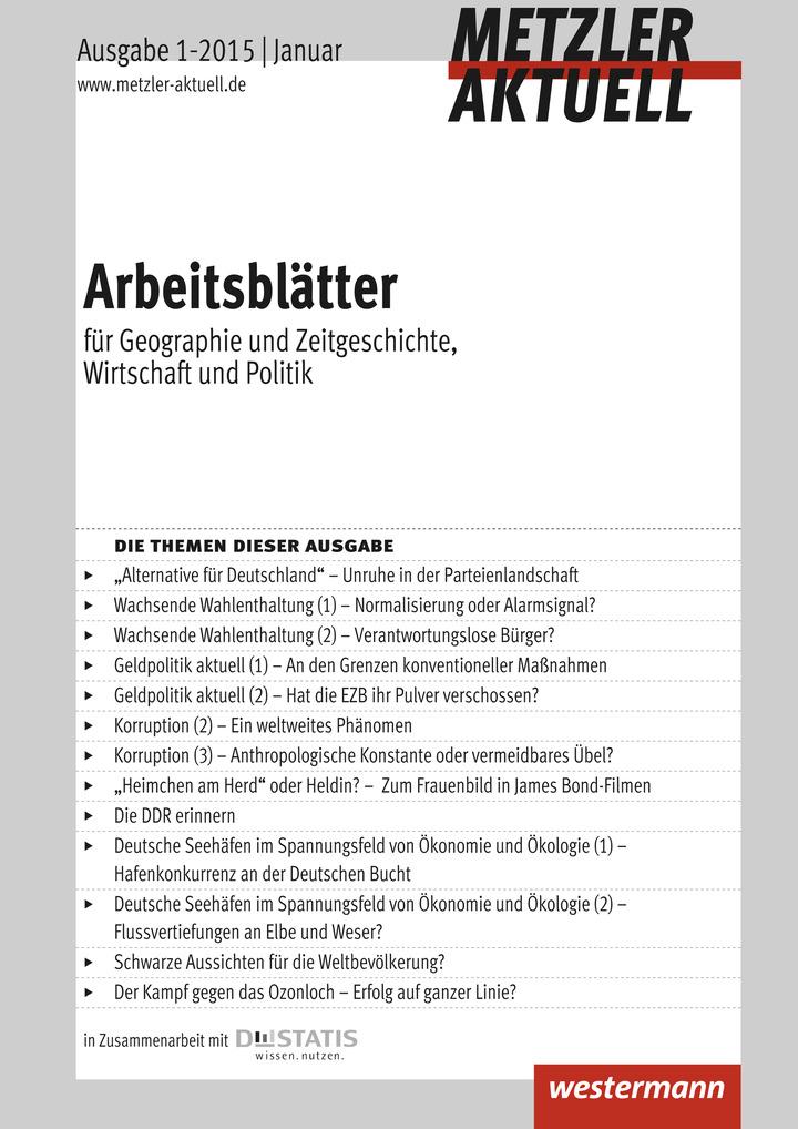 Metzler aktuell - Arbeitsblätter - Für Geographie, Wirtschaft ...