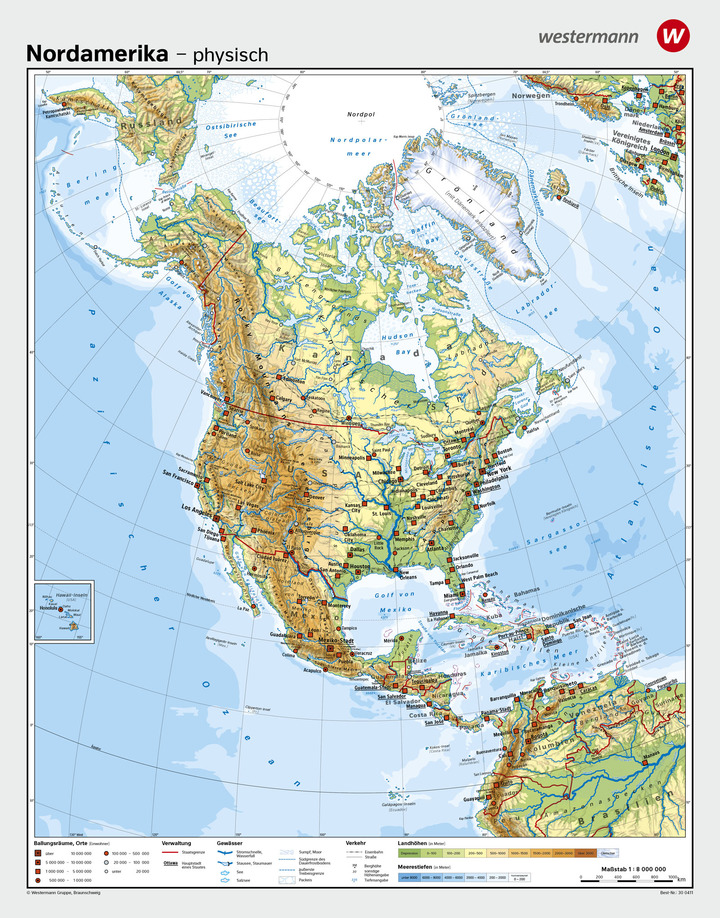 Stumme Karte Nordamerika.Wandkarten Geographie Amerika Verlage Der Westermann Gruppe