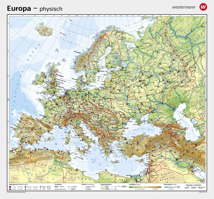 Wandkarten Geographie - Europa: Diercke Webshop