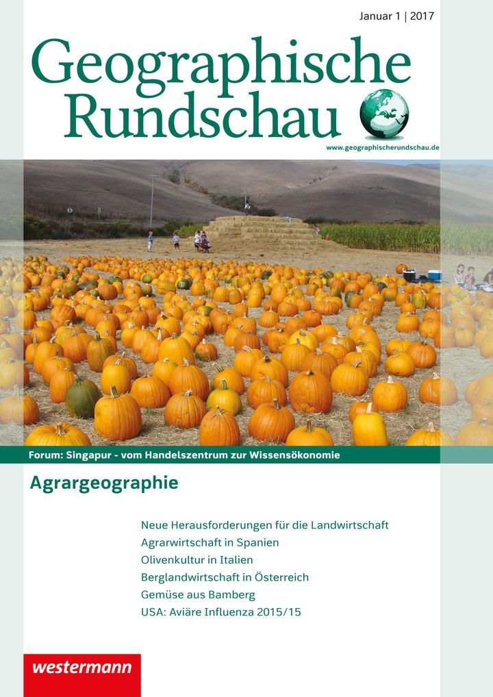 Geographische Rundschau - Agrargeographie - Ausgabe Januar Heft 1 ...