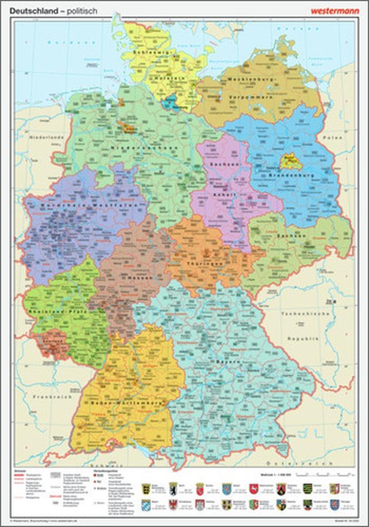 Posterkarten Geographie Deutschland Politisch Verlage Der