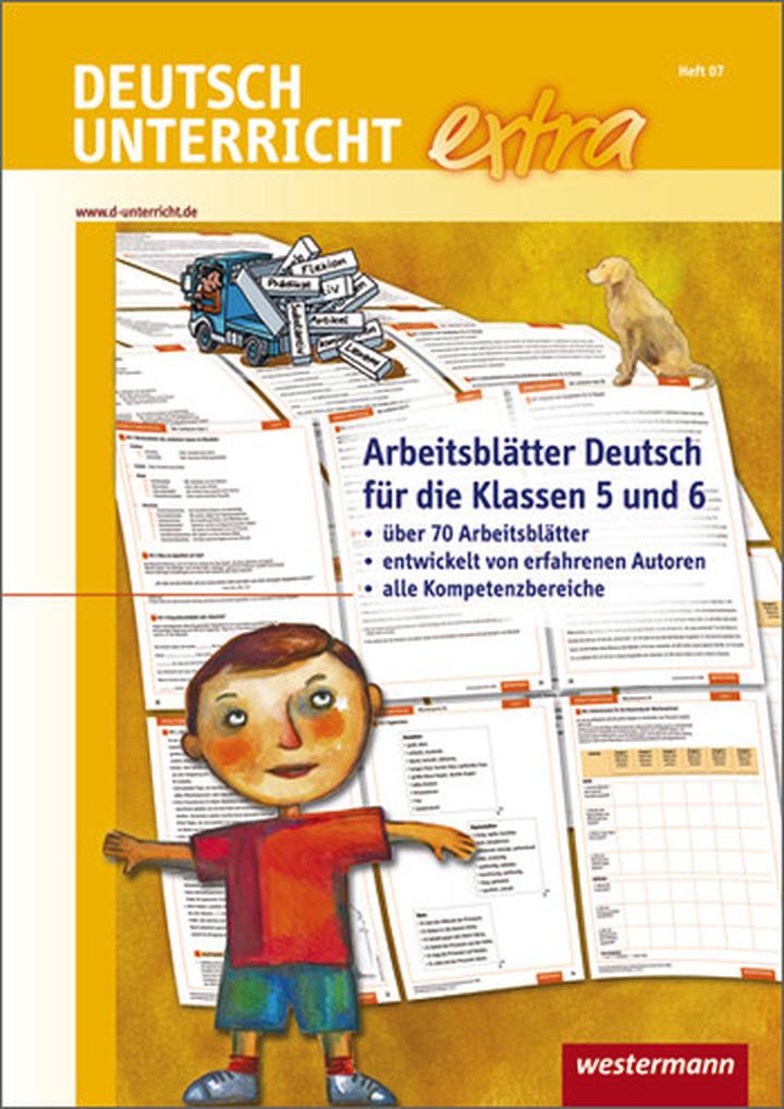 Deutschunterricht extra - Arbeitsblätter Deutsch für die Klassen 5 ...