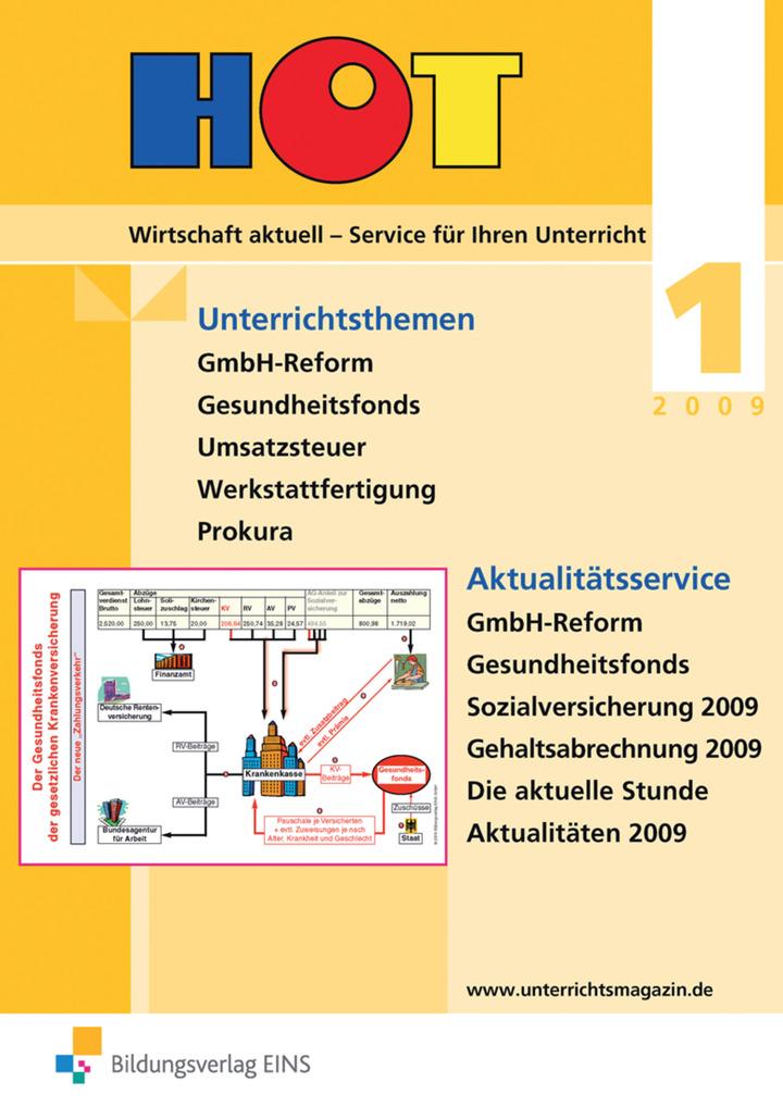 HOT - Unterrichtsmagazin für Wirtschaftsfächer - Ausgabe 1 / 2009 ...