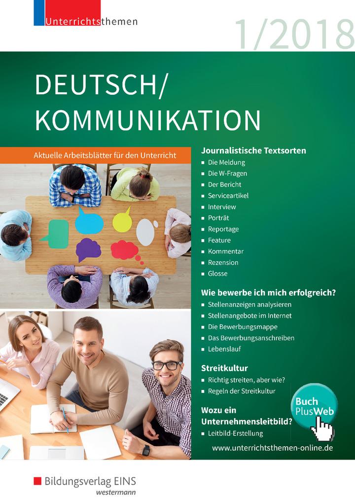 unterrichtsthemen deutsch kommunikation arbeitsbl tter f r ihren unterricht ausgabe 1 2018. Black Bedroom Furniture Sets. Home Design Ideas