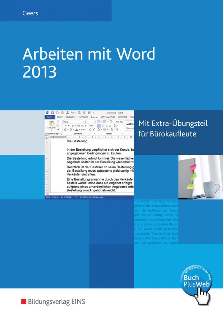 Arbeiten Mit Word 2013 Schülerband Bildungsverlag Eins