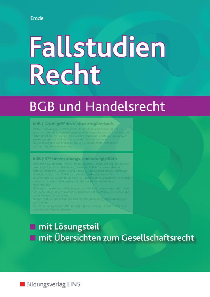 Fallstudien Recht Bgb Und Handelsrecht Arbeitsheft Verlage Der