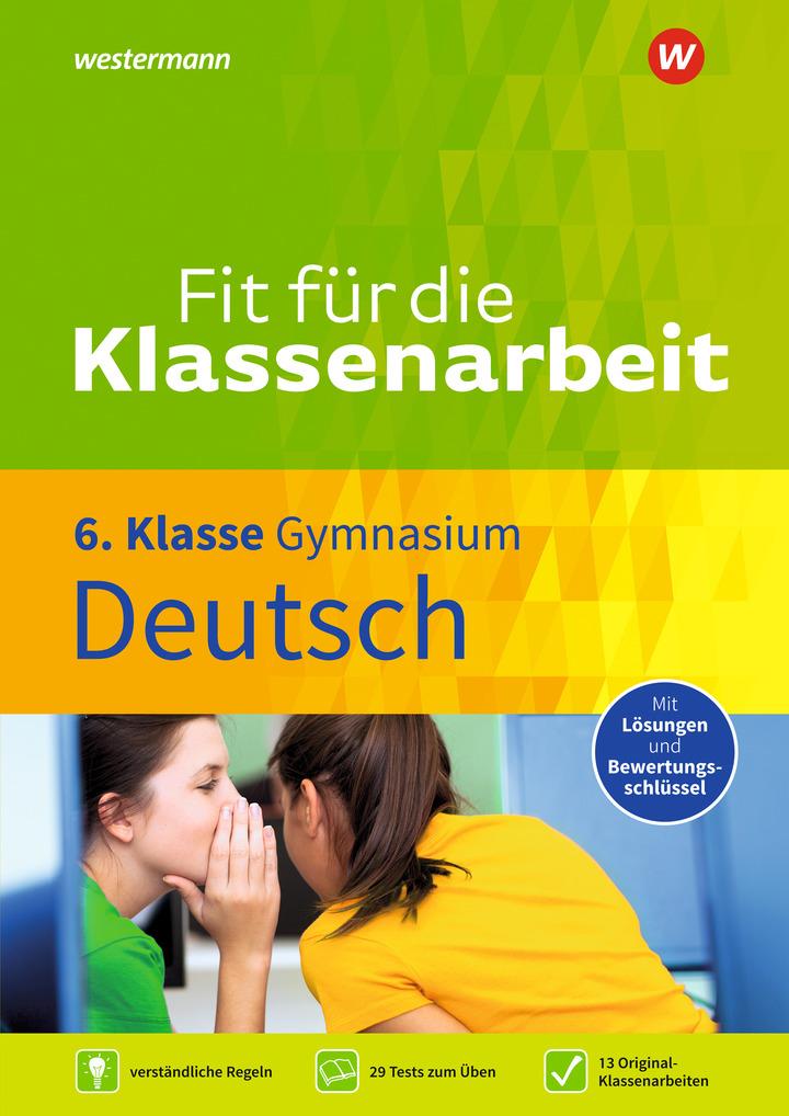 Fit Für Die Klassenarbeit Gymnasium Deutsch 6