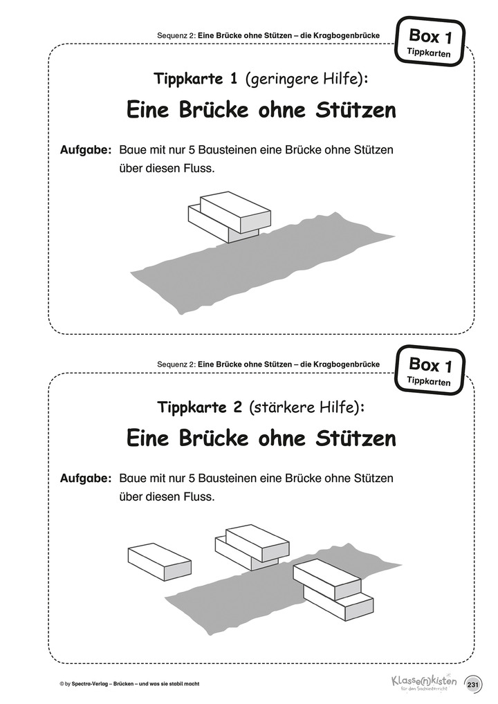 Die KiNT-Boxen - Klassenkisten IV: Brücken - und was sie stabil ...