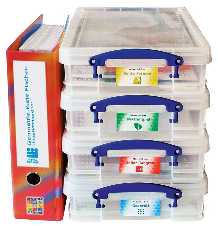 Spectra Geometrie - Kiste Flächen - 4 Materialboxen: Spectra Verlag