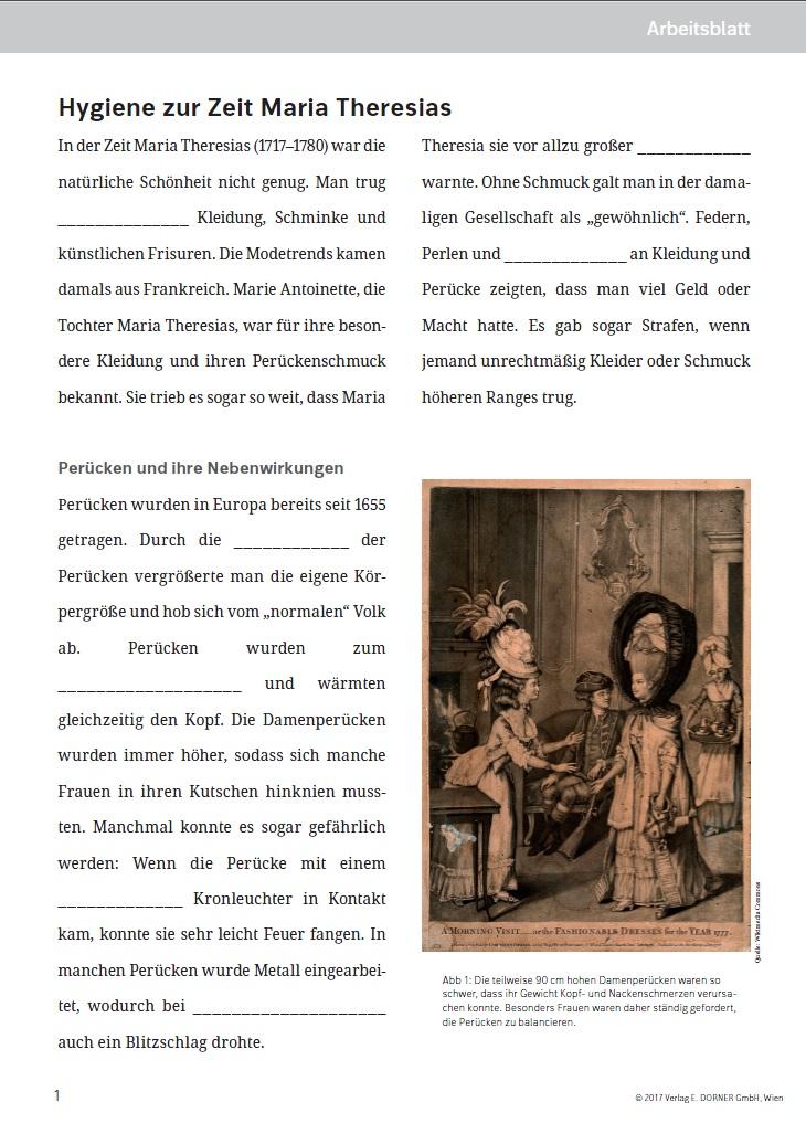 Arbeitsblatt für die AHS-Unterstufe: Westermann Gruppe in Österreich