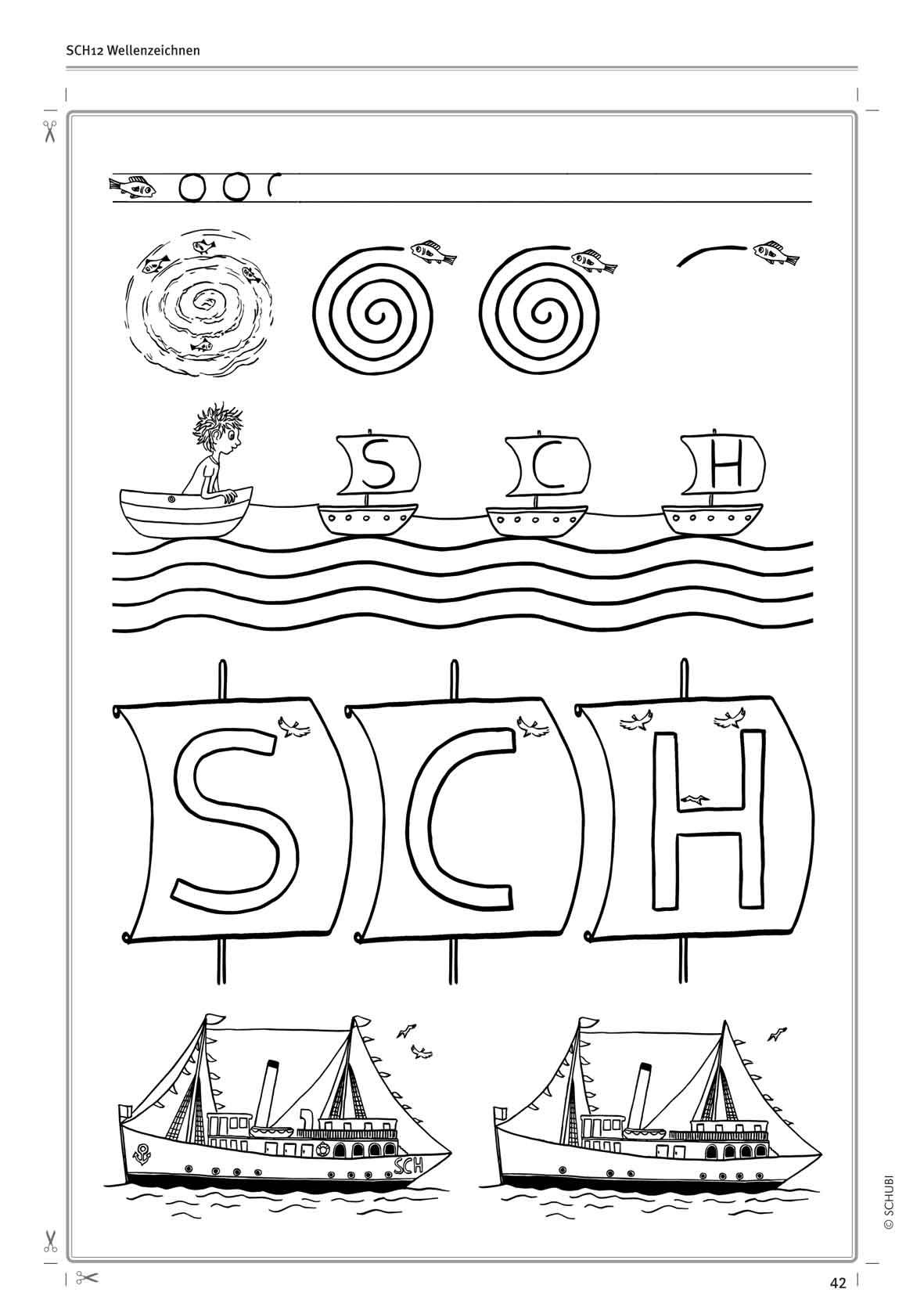 Arbeitsblätter Buchstabe Sch : Spiele zum laut sch schubi