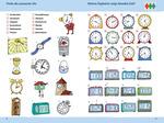Finde die passende Uhr. & Welche Digitaluhr zeigt dieselbe Zeit?
