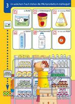In welchem Fach stehen die Milchprodukte im Kühlregal?