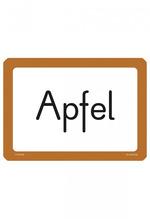 Beispielseite 18884 Wortkarte Apfel
