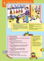Der erste Tag im Kindergarten (Vorlesetext und Fragen zum Bild)