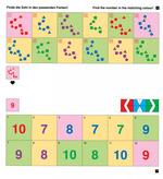 Finde die Zahl in den passenden Farben!