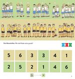 Zwei Mannschaften. Wie viele Kinder sind es jeweils?