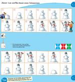 Januar: Lisa und Ben bauen einen Schneemann
