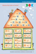 Einfache Wörter lesen Welches Wort steht im Fenster?