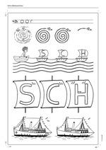 Spiele zum Laut SCH - Material für Sprachförderung und Therapie_Arbeitsblatt Wellenzeichnen