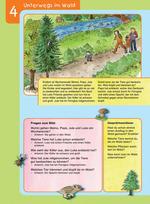 Unterwegs im Wald (Vorlesetext und Fragen zum Bild)