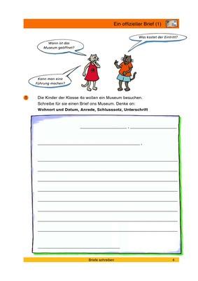 Ein Offizieller Brief 1 Brief Schreiben Lernando Schulbücher