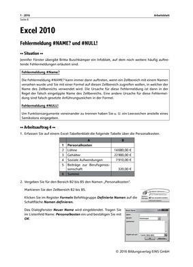 Excel 2010 Fehlermeldung - Arbeitsblatt: Das Grundschulprogramm der ...