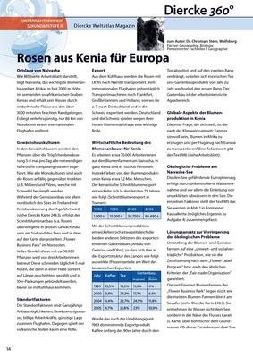 Arbeitsblatt Sek II: Rosen aus Kenia für Europa - inkl.. Lösungen ...