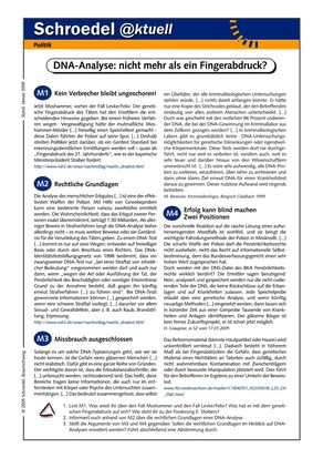 DNA-Analyse: Nicht mehr als eine Fingerabdruck? - - ein Arbeitsblatt ...