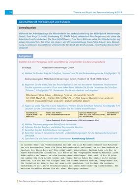 Geschäftsbrief Mit Briefkopf Und Fußzeile Ausgabe 42018 Winklers