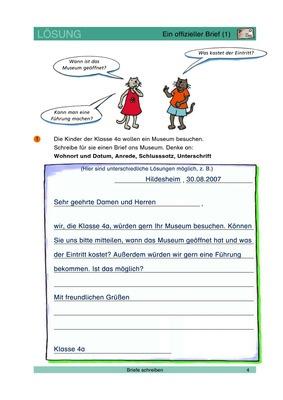 Ein Offizieller Brief 1 Brief Schreiben Lösungen Verlage Der