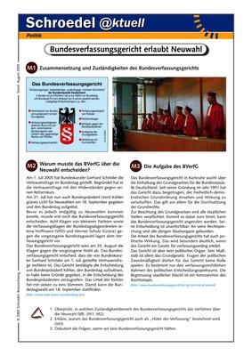Bundesverfassungsgericht erlaubt Neuwahl - - ein Arbeitsblatt zur ...