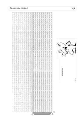 Tausenderstreifen mit Zahlen - inkl. Abdeckblatt: Verlage der Westermann Gruppe