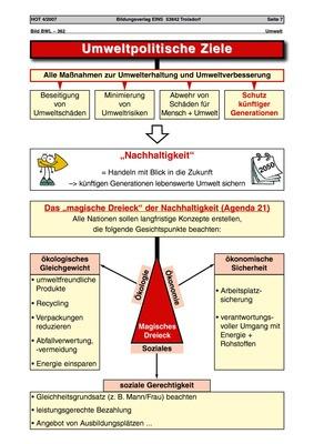 Umweltpolitische Ziele - Arbeitsblatt: Bildungsverlag EINS