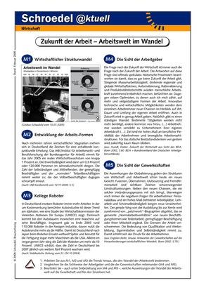 Zukunft der Arbeit – Arbeitswelt im Wandel - - ein Arbeitsblatt zu ...