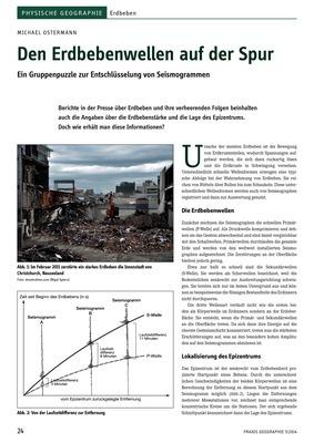 Den Erdbebenwellen auf der Spur - Ein Gruppenpuzzle zur ...