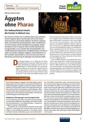 Ägypten ohne Pharao - Ein Volksaufstand mischt die Karten in Nahost ...