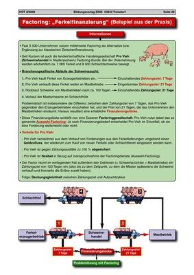 factoring ferkelfinanzierung - Factoring Beispiel