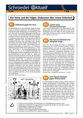 Terror und die Folgen: Diskussion über innere Sicherheit - - ein ...