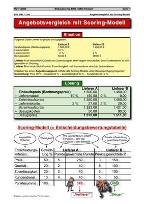 Angebotsvergleich Mit Scoring Modell Situationen Und Lösungen