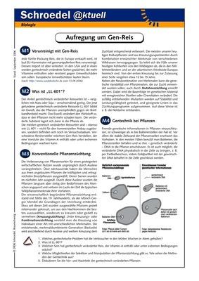 Aufregung um Gen-Reis - - ein Arbeitsblatt über Gentechnik in der ...
