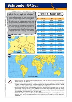 Formel 1 – Saison 2006 - - ein Arbeitsblatt mit geografischen ...