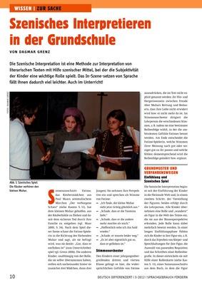 Szenisches Interpretieren In Der Grundschule Lük Lernen üben