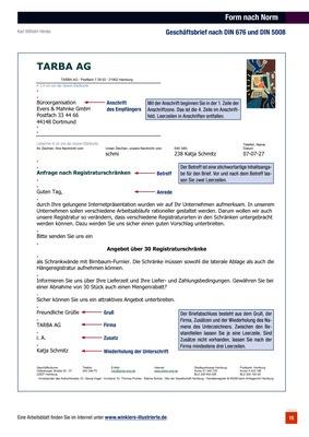 Form Nach Norm Geschäftsbrief Nach Din 676 Und Din 5008 Verlage