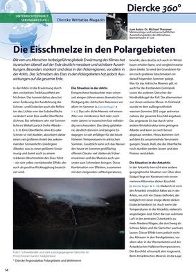 Arbeitsblatt Sek I: Die Eisschmelze in den Polargebieten - inkl ...