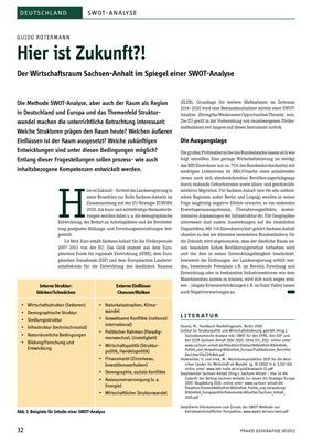 Hier ist Zukunft?! - Der Wirtschaftsraum Sachsen-Anhalt im Spiegel ...
